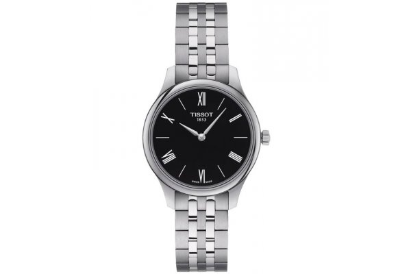 Large image of Tissot Tradition 5.5 Lady Watch, Black Dial, 31mm - T0632091105800