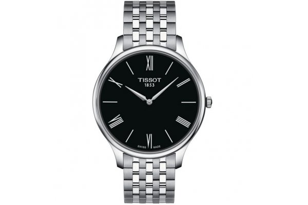 Large image of Tissot Tradition 5.5 Quartz Black Dial Watch, 39mm - T0634091105800