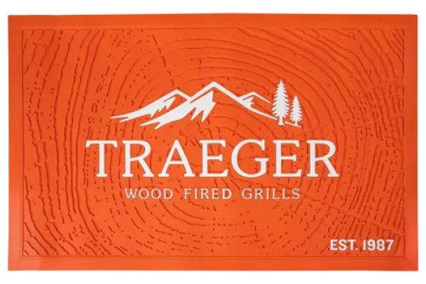 Large image of Traeger Orange Grill Mat - BAC636