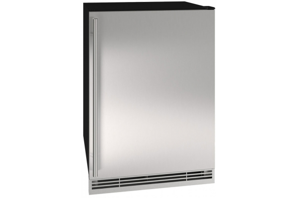 """Large image of U-Line 24"""" Stainless Steel Convertible Freezer - UHFZ124-SS01A"""