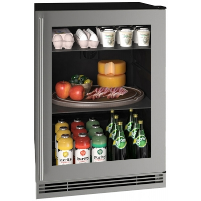 "U-Line 24"" Stainless Frame Refrigerator"