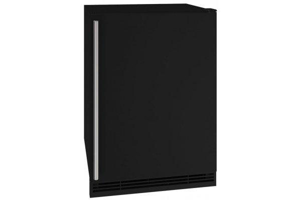 "Large image of U-Line 1 Class 24"" Black Solid Refrigerator/Ice Maker - UHRI124-BS01A"