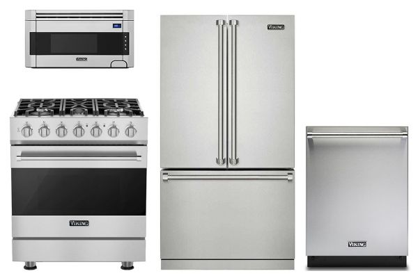 Large image of Viking Professional 3 Series French-Door Refrigerator Kitchen Package - VIKIPACK7