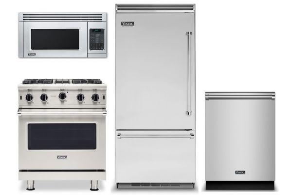 Viking Professional 5 Series Stainless Built-In Bottom Freezer Refrigerator Kitchen Package - VIKIPACK8