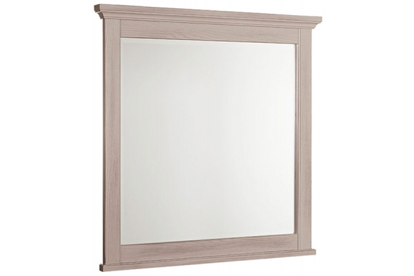 Large image of Vaughan-Bassett Bungalow Home Dover Grey/Folkstone Landscape Mirror - 741-445