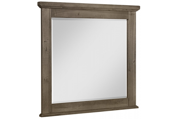 Large image of Vaughan-Bassett Cool Rustic Stone Grey Landscape Mirror - 172-446