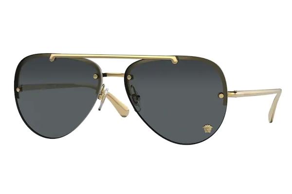Large image of Versace Pilot VE2231 Dark Grey Sunglasses 60mm - VE223110028760