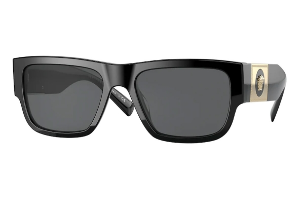 Large image of Versace Rectangle VE4406 Black Sunglasses 60mm - VE4406GB18756