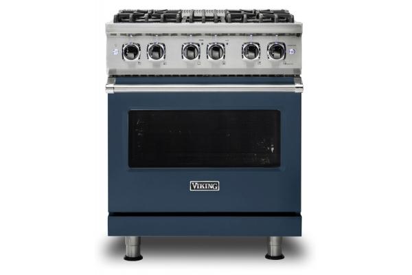 "Large image of Viking 30"" Professional 5 Series Slate Blue Freestanding Dual Fuel Range - VDR5304BSB"