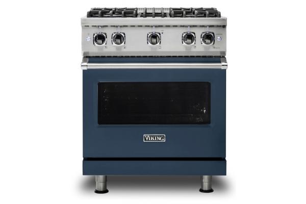 "Large image of Viking 30"" Professional 5 Series Slate Blue Gas Range - VGR5304BSB"