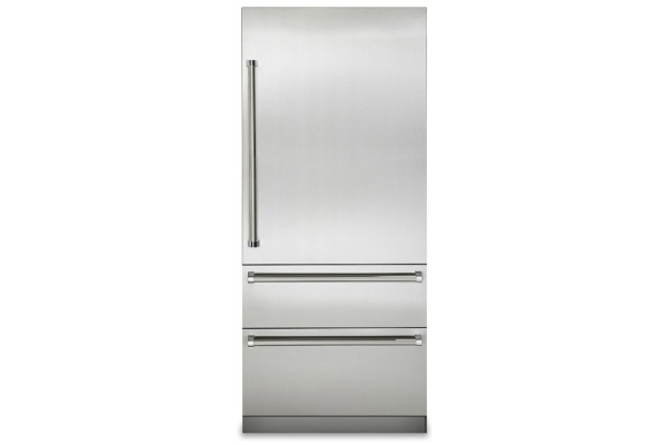 "Large image of Viking 7 Series 36"" Stainless Steel Right-Hinge Built-In Bottom-Freezer Refrigerator - VBI7360WRSS"