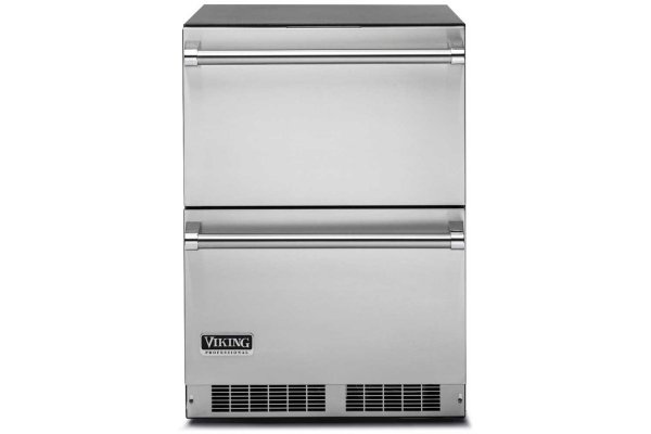 """Large image of Viking 24"""" Stainless Steel Refrigerated Drawers - VDUI5241DSS"""