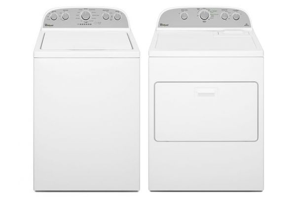 Whirlpool High-Efficiency Top Loading Washer with Gas Dryer - WHIRLAUNDRYPACK12