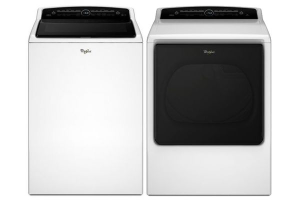 Whirlpool White Cabrio High-Efficiency Top Loading Washer with Gas Dryer - WHIRLAUNDRYPACK14