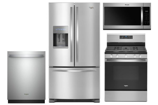 Large image of Whirlpool French Door Refrigerator & Gas Range Kitchen Package - WHIRPACK36