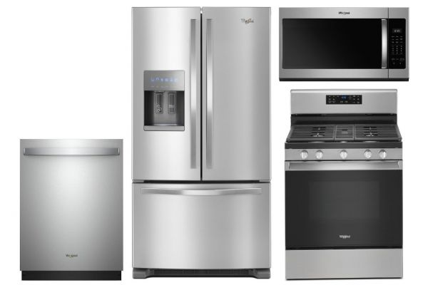 Large image of Whirlpool French Door Refrigerator & Gas Range Kitchen Package - WHIRPACK37