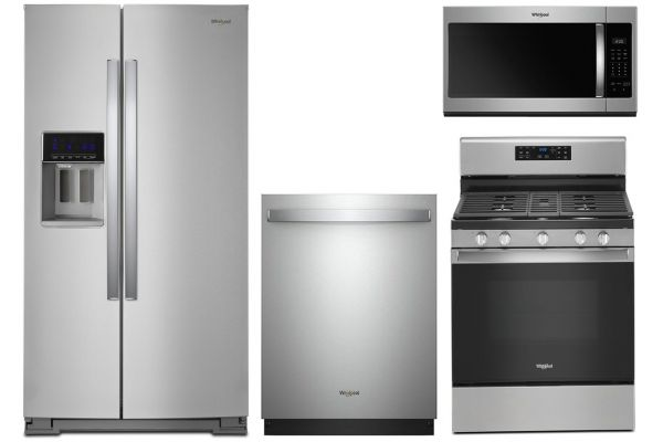 """Large image of Whirlpool 36"""" Side-By-Side Refrigerator With Gas Range Package - WHIRPACK41"""