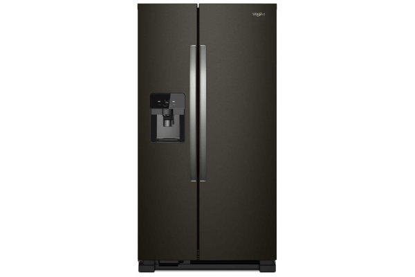 "Large image of Whirlpool 33"" Fingerprint Resistant Black Stainless Side-By-Side Refrigerator - WRS321SDHV"