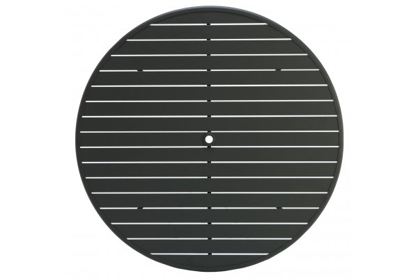 "Large image of Winston Furniture Key West 48"" Java Round Slat Table Top With Hole - HQESL-048JAV"