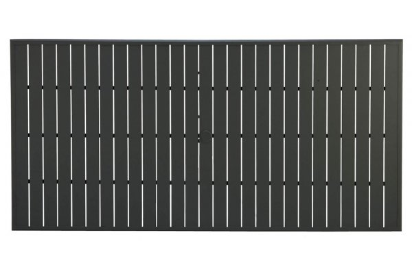 "Large image of Winston Furniture 84"" Night Rectangular Slat Table Top With Hole - HQESL-084BKN"