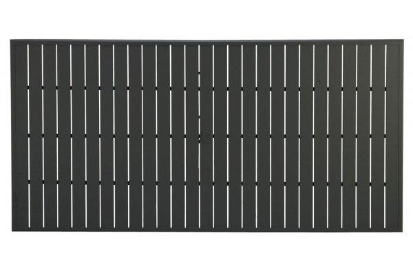 "Large image of Winston Furniture 84"" Java Rectangular Slat Table Top With Hole - HQESL-084JAV"