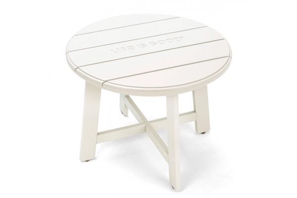 Large image of Winston Furniture Life Is Good Cream Wood Adirondack Side Table - LIGT7-W