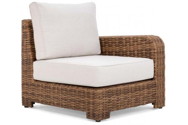 Large image of Winston Furniture Nico Cast Pumice Antique Chestnut Weave Left Arm End Sectional - HQ70035L