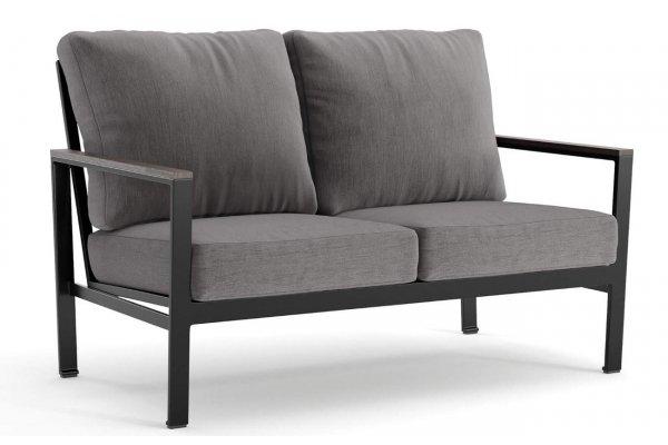 Large image of Winston Furniture Echo Cushion Textured Pewter Cast Slate Loveseat - HQ45022