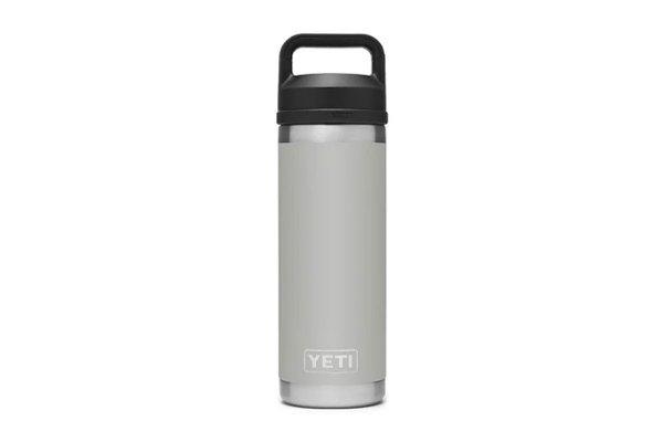 Large image of YETI Rambler Granite Gray 18 Oz Bottle With Chug Cap - 21071500467