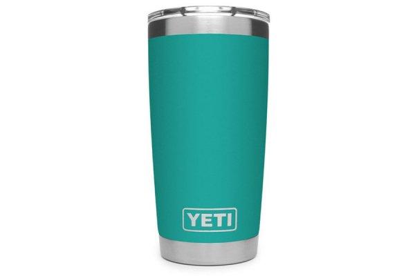 Large image of YETI Aquifer Blue 20 Oz Rambler With MagSlider Lid - 21070060075