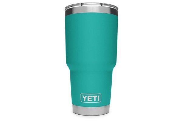 Large image of YETI Aquifer Blue 30 Oz Rambler With MagSlider Lid - 21070070070