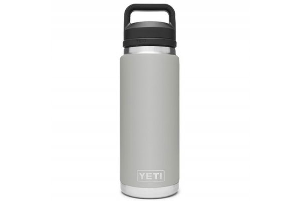 Large image of YETI Rambler Granite Gray 26 Oz Bottle With Chug Cap - 21071500468