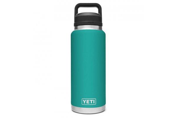 Large image of YETI Rambler Aquifer Blue 36 Oz Bottle With Chug Cap - 21071070041