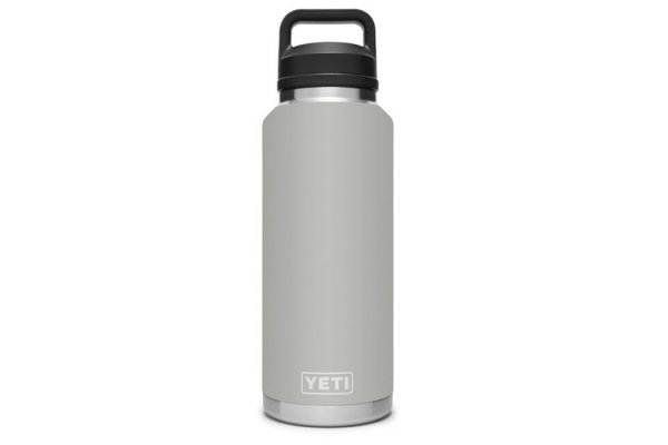 Large image of YETI Rambler 46 Oz Granite Gray Bottle With Chug Cap - 21071500515