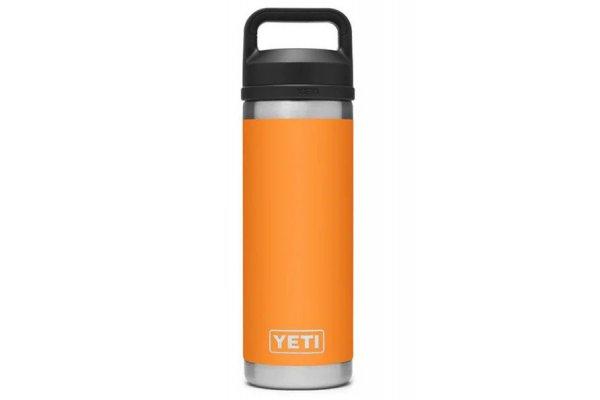 Large image of YETI Rambler King Crab Orange18 Oz Bottle With Chug Cap - 21071500484