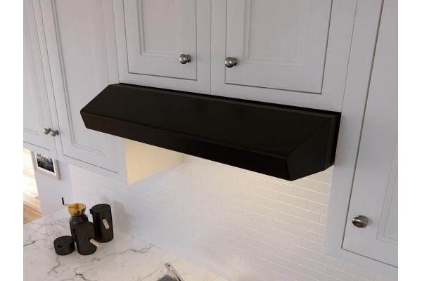"Large image of Zephyr 36"" Breeze I Under Cabinet Black Wall Hood - AK1136BB"