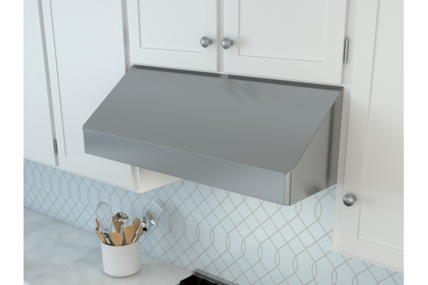 "Large image of Zephyr Tempest I 36"" Stainless Steel Under-Cabinet Range Wall Hood - AK7036CS"