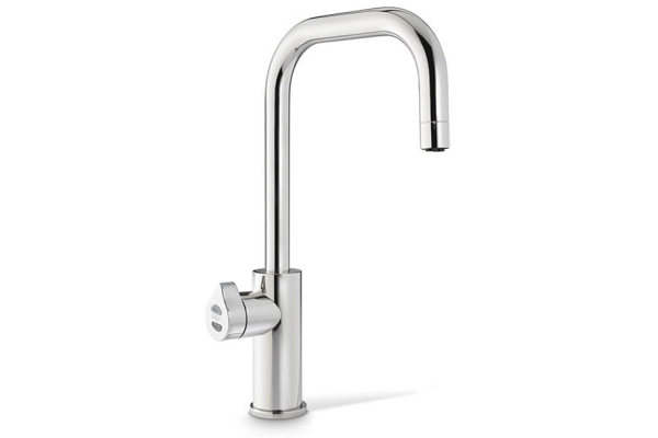 Large image of Zip Water HydroTap Cube For Home Nickel Boiling, Chilled And Sparkling Water Faucet - 01038356