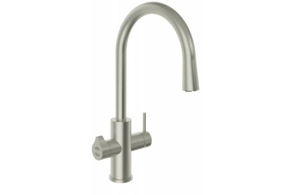 Large image of Zip Water HydroTap Celsius All-In-One For Home Brushed Nickel Boiling, Chilled And Sparkling Water Faucet - 01038364
