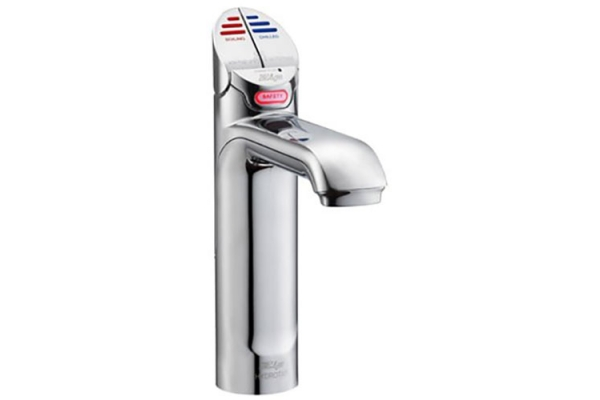Large image of Zip Water HydroTap Classic For Home Brushed Chrome Boiling And Chilled Water Faucet - 01038366