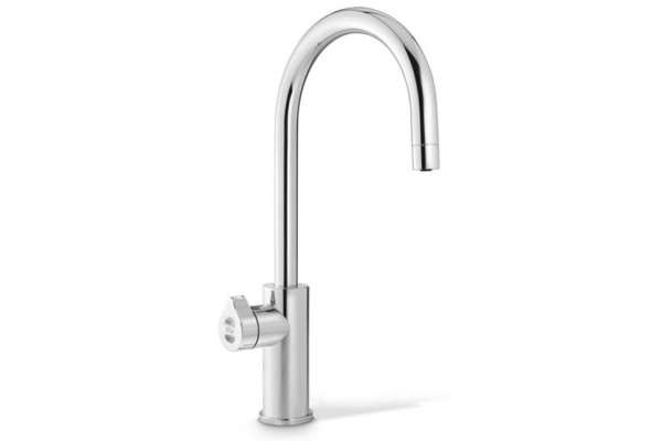 Large image of Zip Water HydroTap Arc For Home Nickel Chilled And Sparkling Water Faucet - 01038390