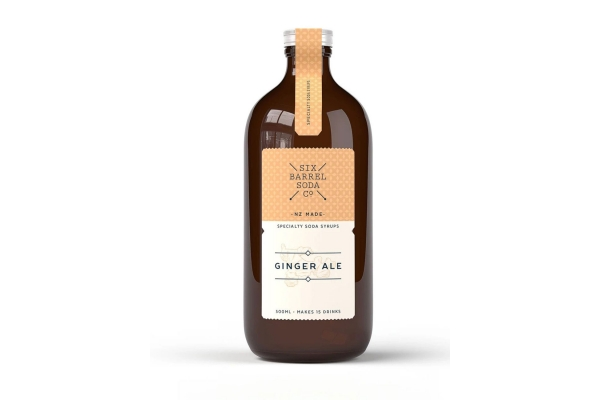 Large image of AARKE Six Barrel Soda Co. 500ml Ginger Ale Soda Syrup Mix - GASYRUP