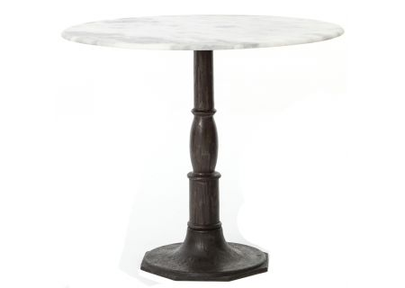 Four Hands White Marble Lucy Bistro Table - IRCK-049-CBW