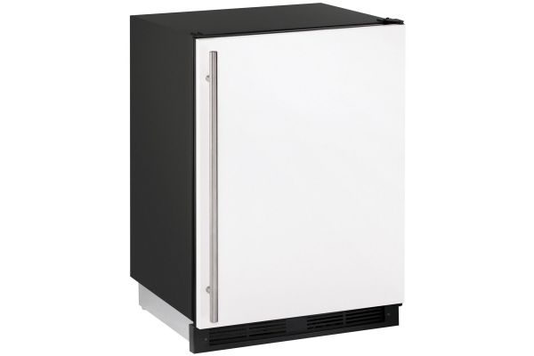 "Large image of U-Line 24"" White Undercounter Compact Combo Refrigerator - U-1224RFW-00B"