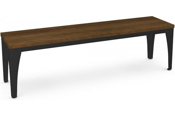 """Large image of Amisco Upright 60"""" Toasty/Black Coral Bench - 30410-25/87"""