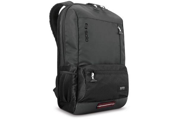 "Large image of SOLO Varsity Collection 15.6"" Black Draft Backpack - VAR701-4"