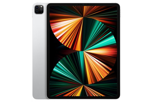 Large image of Apple iPad Pro M1 12.9-Inch 256GB Wi-Fi + Cellular Silver (2021) - MHNX3LL/A