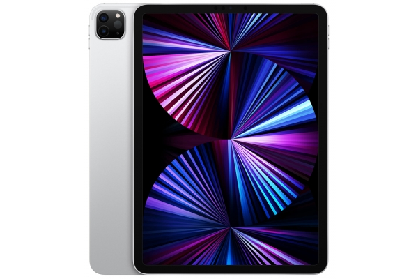 Large image of Apple iPad Pro M1 11-Inch 128GB Wi-Fi + Cellular Silver (2021) - MHMU3LL/A