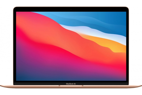"Large image of Apple MacBook Air 13.3"" Gold Notebook Apple M1 Chip 8GB Unified RAM 512GB SSD (Latest Model) - MGNE3LL/A"