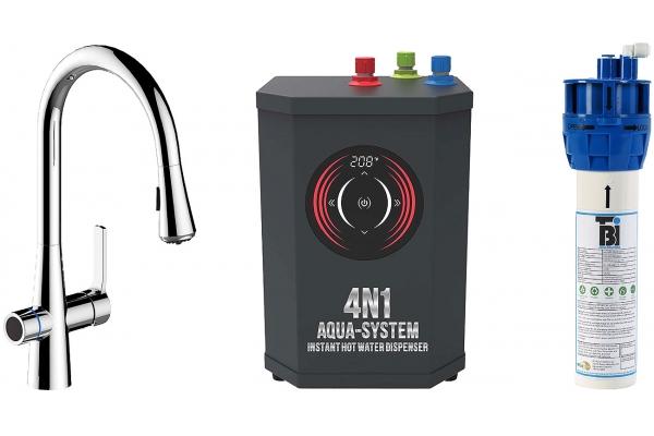 Large image of BTI Aqua-Solutions 4N1 Aqua-System Plus With Chrome Filtration Faucet - 4N1ASPLUS-CH